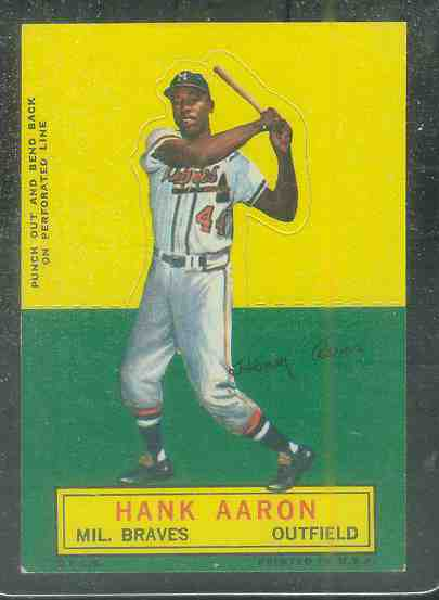 1964 Topps Stand-Ups/Standups - Hank Aaron [#a] (Braves) Baseball cards value