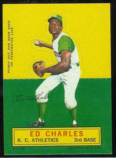 1964 Topps Stand-Ups/Standups - Ed Charles [#b] (Kansas City A's) Baseball cards value