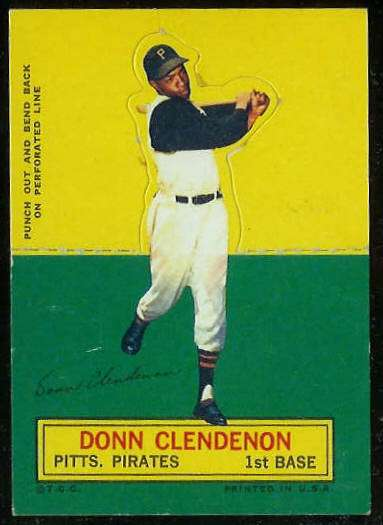 1964 Topps Stand-Ups/Standups - Donn Clendenon SHORT PRINT [#c] (Pirates) Baseball cards value