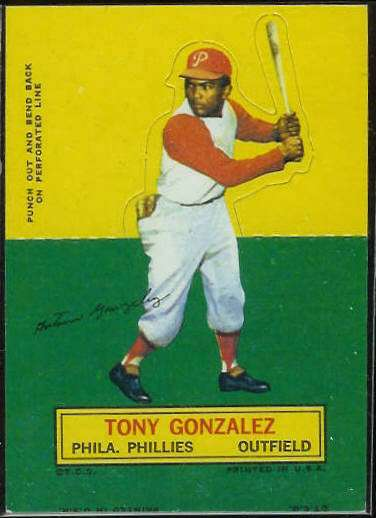 1964 Topps Stand-Ups/Standups - Tony Gonzalez SHORT PRINT (Phillies) Baseball cards value