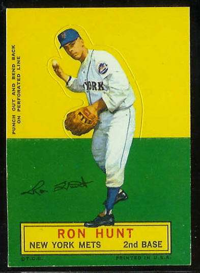 1964 Topps Stand-Ups/Standups - Ron Hunt [#b] (Mets) Baseball cards value