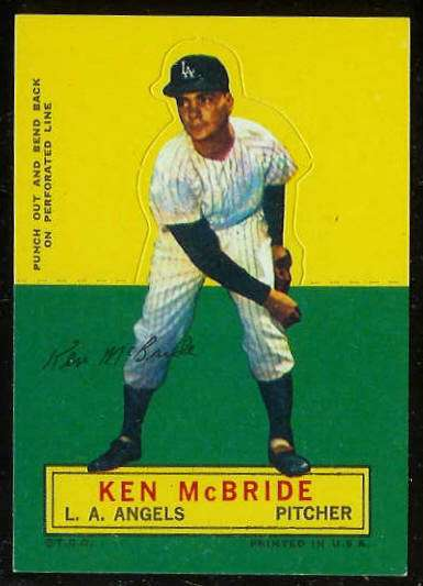 1964 Topps Stand-Ups/Standups - Ken McBride [#a] (Angels) Baseball cards value