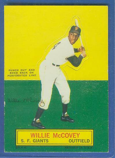 1964 Topps Stand-Ups/Standups - Willie McCovey SHORT PRINT (Giants) Baseball cards value