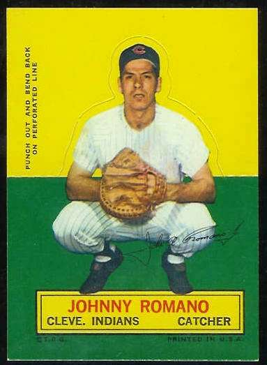 1964 Topps Stand-Ups/Standups - Johnny Romano [#a] (Indians) Baseball cards value