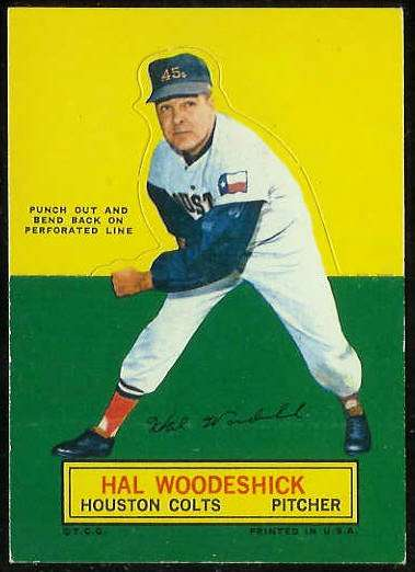 1964 Topps Stand-Ups/Standups - Hal Woodeshick SHORT PRINT Houston Col Baseball cards value