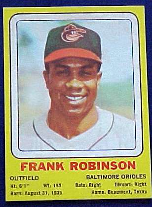1969 Transogram #16 Frank Robinson (Orioles) Baseball cards value