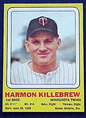 1969 Transogram #11 Harmon Killebrew (Twins) Baseball cards value