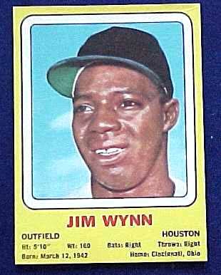 1969 Transogram #41 Jim Wynn (Astros) Baseball cards value