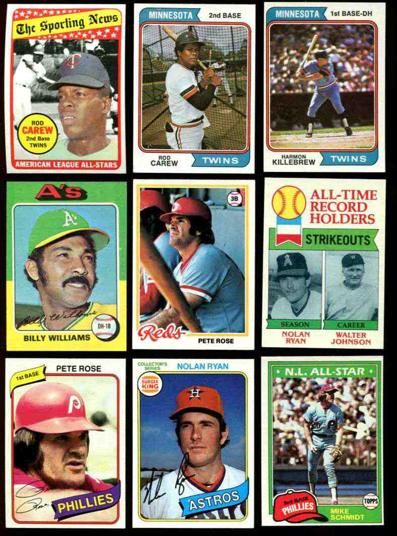 1969-1981 Collection of Hall-of-Famers & Superstars !!! (9 cards) Baseball cards value