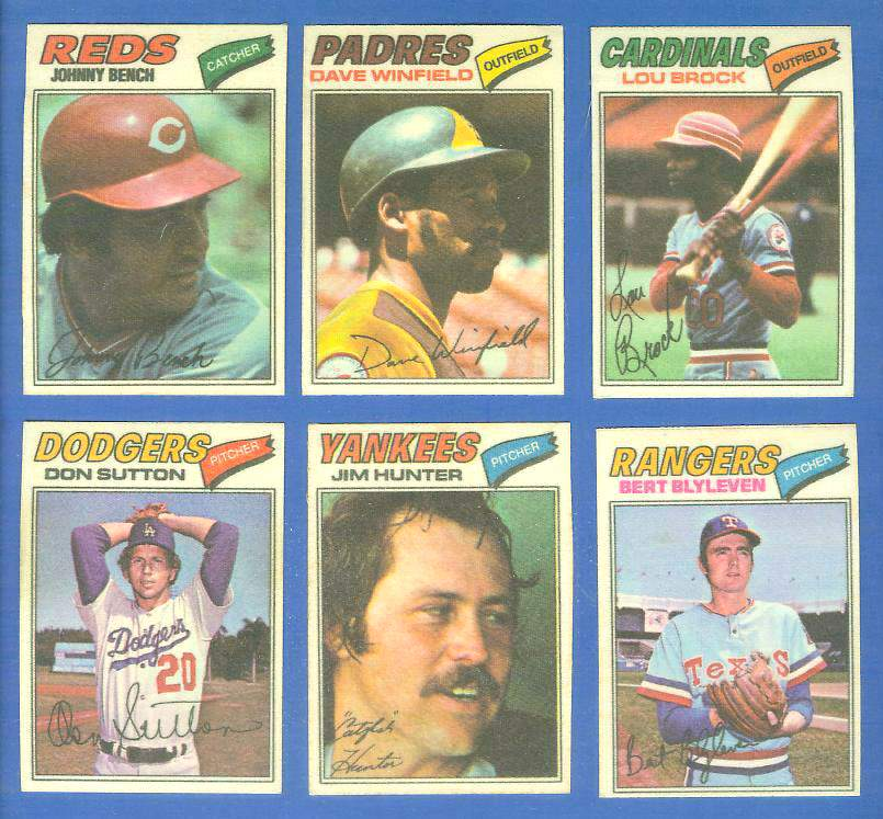 1977 Topps Cloth Stickers  - SUPERSTAR Lot of (6) Packed w/HALL-OF-FAMERS Baseball cards value