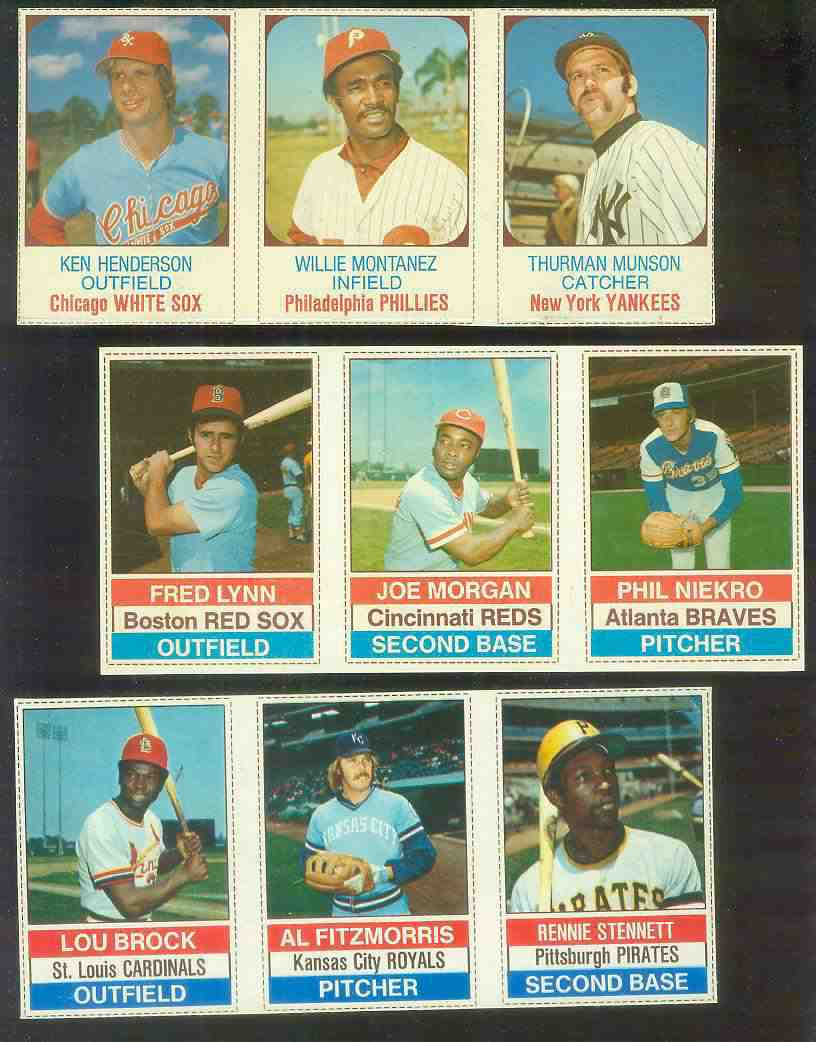1976 Hostess PANEL #..1-2-3 JOE MORGAN/Phil Niekro/Fred Lynn Baseball cards value