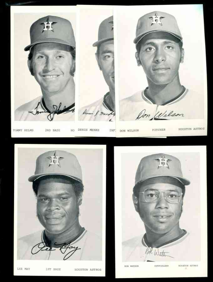 1972-74 Houston ASTROS Team Issued - Lot of (8) Baseball cards value