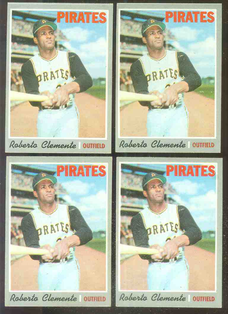 1970 Topps #350 Roberto Clemente [#a] (Pirates) Baseball cards value