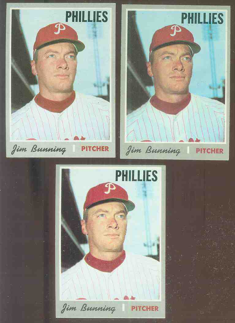 1970 Topps #403 Jim Bunning [#a] (Phillies) Baseball cards value
