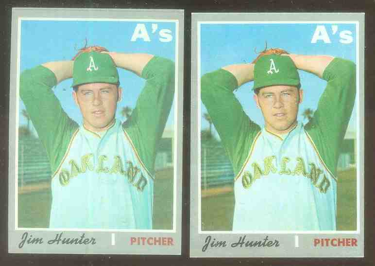 1970 Topps #565 Jim Hunter [#a] (A's) Baseball cards value
