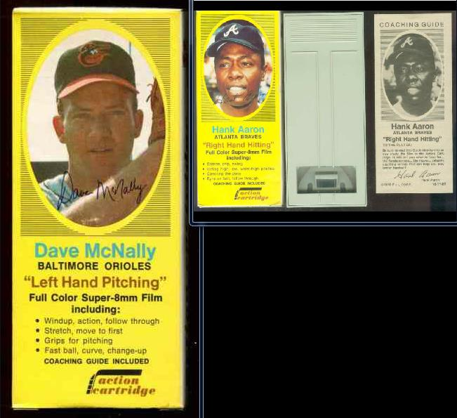 1970 Action Cartridge - Dave McNally COMPLETE BOX, FILM CARTRIDGE & Guide Baseball cards value