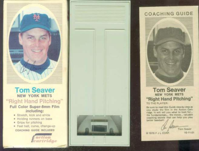 1970 Action Cartridge - TOM SEAVER COMPLETE BOX, FILM CARTRIDGE & Guide Baseball cards value