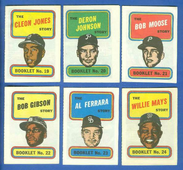 1970 Topps Comic Booklets #24 Willie Mays Baseball cards value