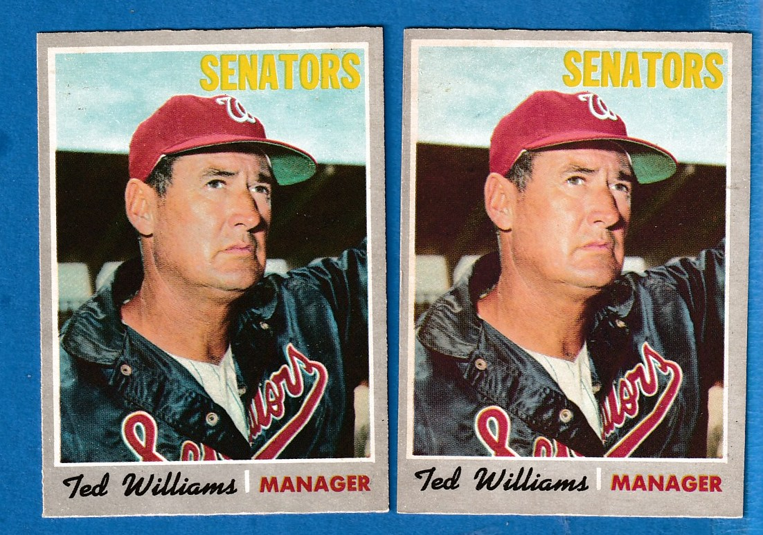 1970 O-Pee-Chee/OPC #211 Ted Williams (Senators) Baseball cards value