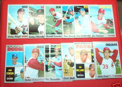 1970 Topps - Lot (300) mostly diff commons,Teams,Minors,Regional Stars... Baseball cards value