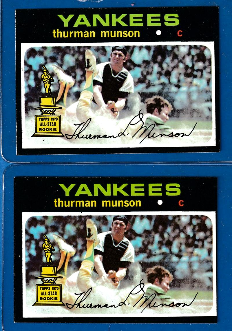 1971 Topps #  5 Thurman Munson [#a] (1st solo card!) (Yankees) Baseball cards value