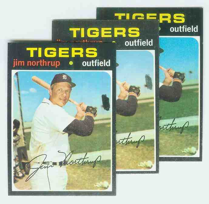 1971 Topps #265a Jim Northrup [Black dot at right variation] (Tigers) Baseball cards value