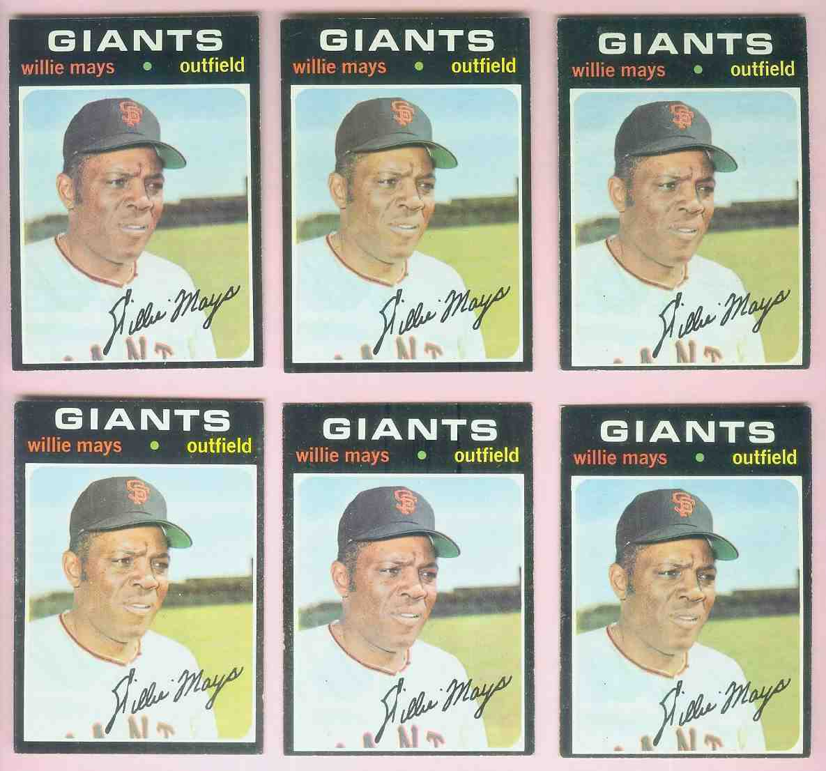 1971 Topps #600 Willie Mays [#dsc] (Giants) Baseball cards value