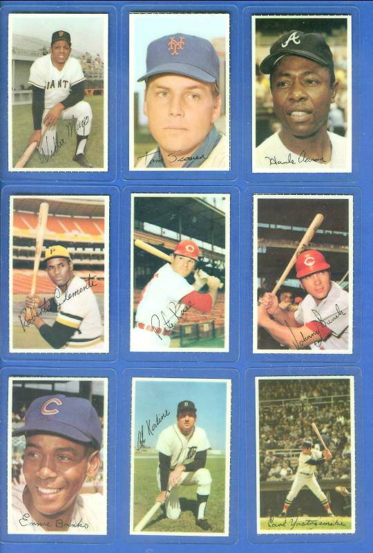 Hank Aaron - 1971 Dell MLB Stamp LAMINATED (Braves) Baseball cards value