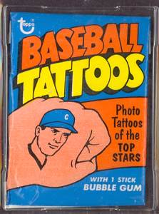 1971 Topps TATTOOS  - SEALED WAX PACK Baseball cards value