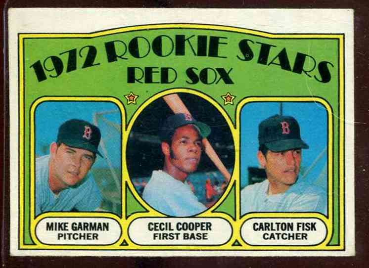 1972 Topps # 79 Carlton Fisk ROOKIE (Red Sox) Baseball cards value