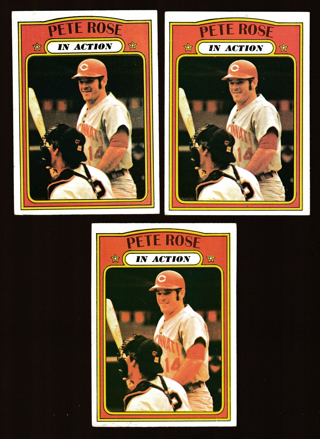 1972 Topps #560 Pete Rose In-Action (Reds) Baseball cards value