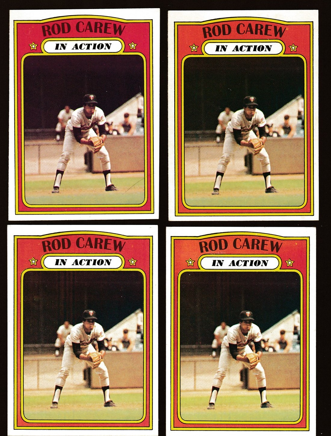 1972 Topps #696 Rod Carew In-Action SCARCE HIGH # (Twins) Baseball cards value