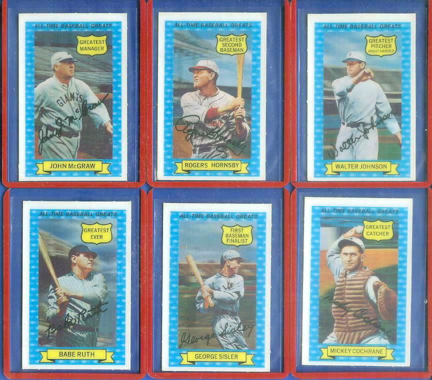 1972 Kellogg's All-Time Greats #.5 George Sisler Baseball cards value