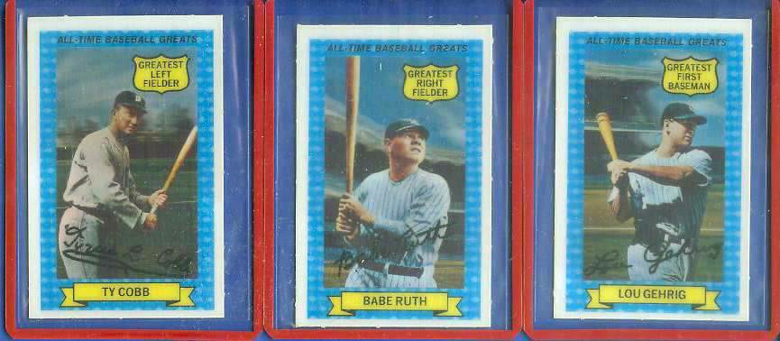 1972 Kellogg's All-Time Greats #15 Ty Cobb Baseball cards value
