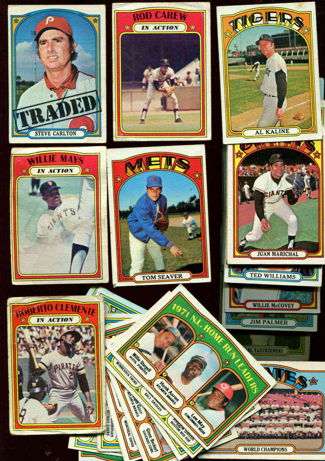 1972 Topps - Starter Set/Lot (425+) diff with Stars,teams,leaders ... Baseball cards value