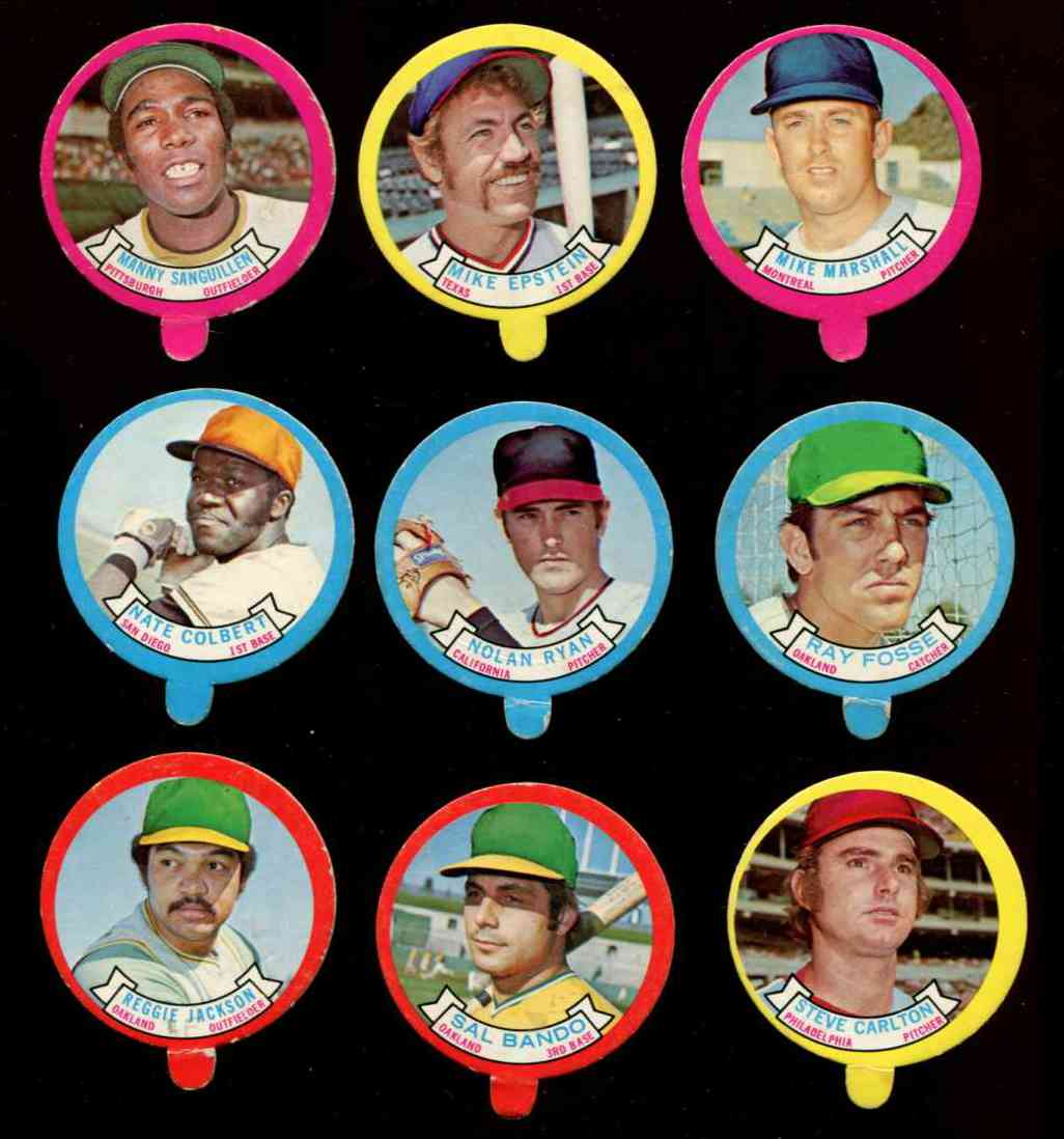 1973 Topps Candy Lid - NOLAN RYAN (Angels) Baseball cards value