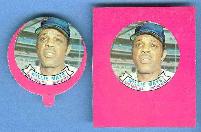 1973 Topps Candy Lid PROOF - WILLIE MAYS (Giants) Baseball cards value