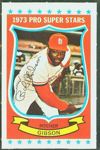 1973 Kellogg's #14 Bob Gibson [#x] (Cardinals) Baseball cards value