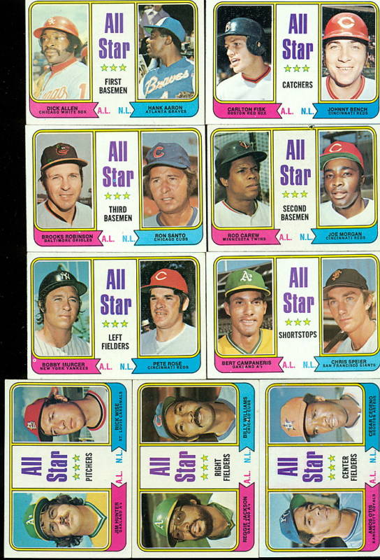 1974 Topps  - COMPLETE All-Star Subset (9) w/AARON,ROSE ... Baseball cards value