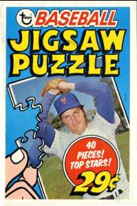 1974 Topps PUZZLE #00 WRAPPER pictures Tom Seaver (Mets) Baseball cards value