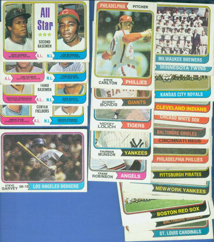 1974 Topps - Lot (750) assorted  commons, Stars, Team cards & more !!! Baseball cards value