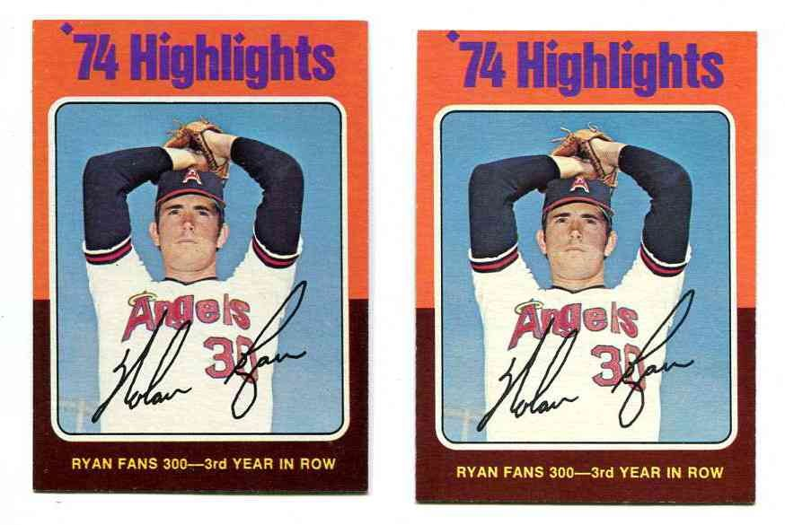 1975 Topps #..5 Nolan Ryan '74 Highlights [#a] (Astros) Baseball cards value
