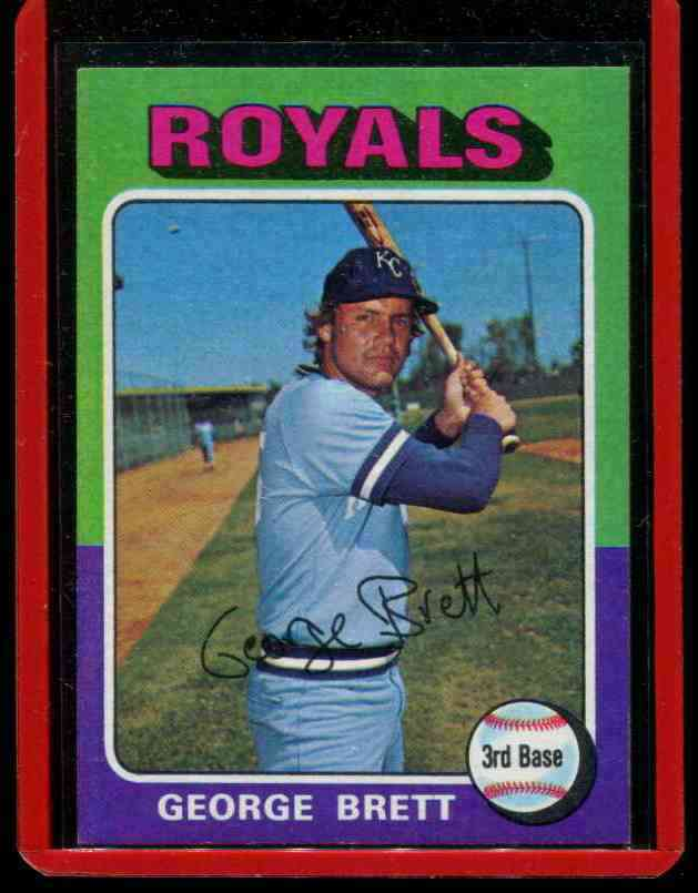1975 Topps #228 George Brett ROOKIE [#a] (Royals) Baseball cards value