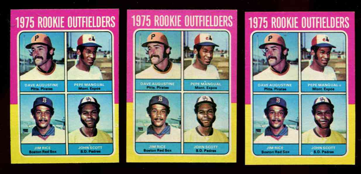1975 Topps #616 Jim Rice ROOKIE [#b] (Red Sox) Baseball cards value