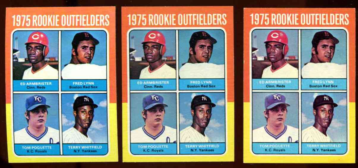1975 Topps #622 Fred Lynn ROOKIE [#b] (Red Sox) Baseball cards value