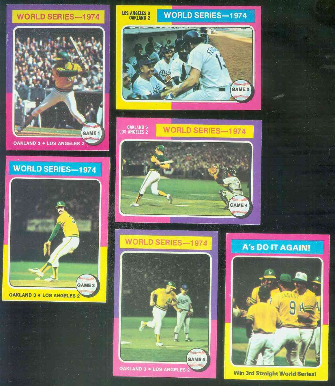1975 Topps #461 to #466 World Series COMPLETE EM-NmMT 6-card SUBSET Baseball cards value