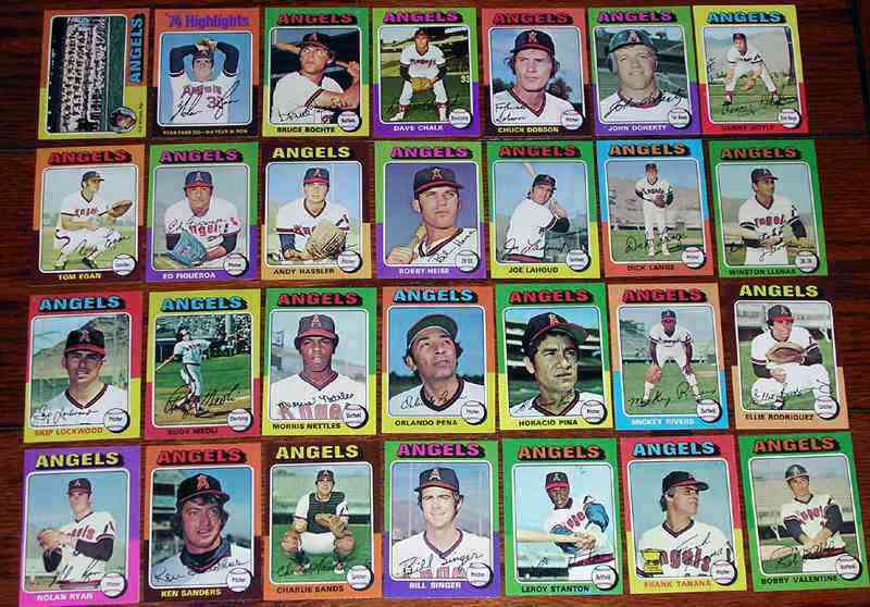 ANGELS (27) - 1975 Topps COMPLETE TEAM SET Baseball cards value