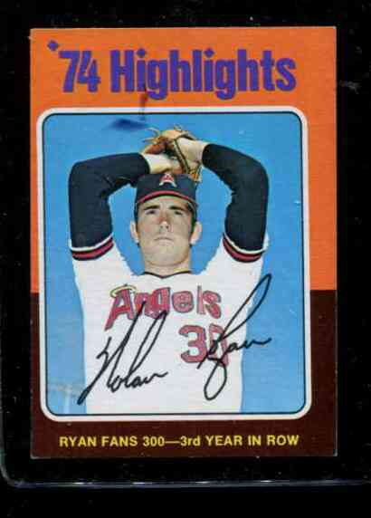 1975 Topps MINI #..5 Nolan Ryan '74 Highlights [#b] (Angels) Baseball cards value
