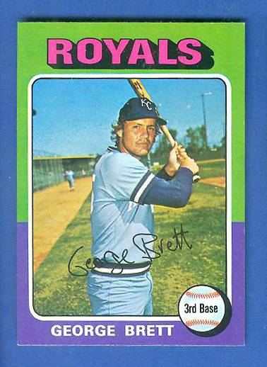 1975 Topps MINI #228 George Brett ROOKIE [#a] (Royals) Baseball cards value