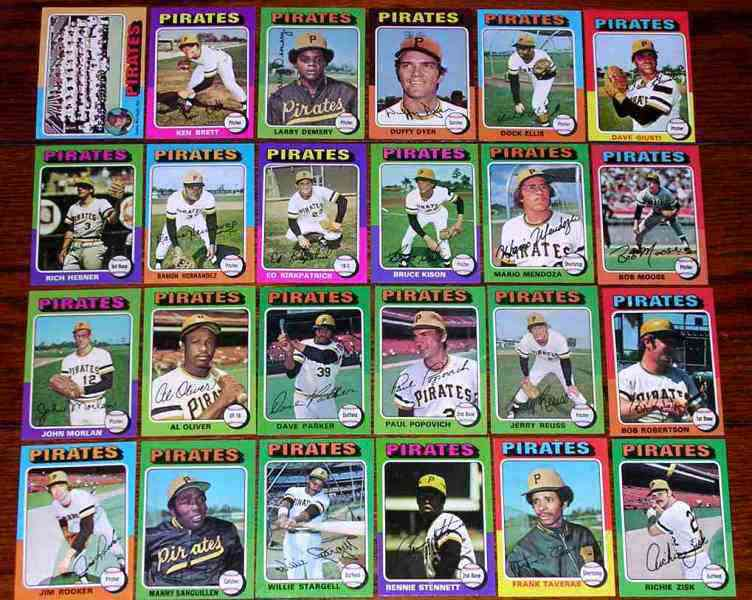 PIRATES (24) - 1975 Topps COMPLETE TEAM SET Baseball cards value